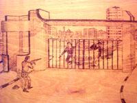 Фрагмент того боя запечатлен на картине, подаренной сирийскими школьниками.