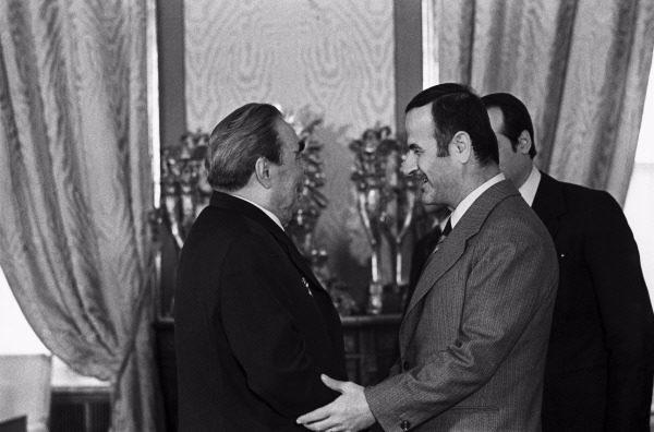 Леонид Брежнев и президент Сирии Хафез Асад, 1980 год